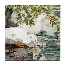 Feelin Duckie Tile Coaster