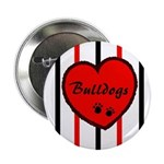 Heart Bulldogs-Stripes Button