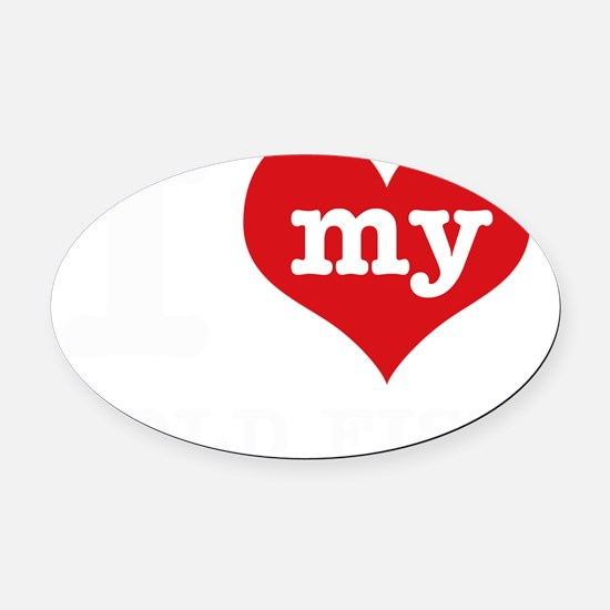 I Love My Gold Fish Pet Designs Oval Car Magnet