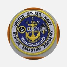 Senior Enlisted Academy Round Ornament