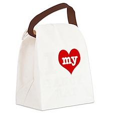 I Love My Fancy Rat Pet Designs Canvas Lunch Bag