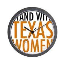 Stand with Texas Women Wall Clock