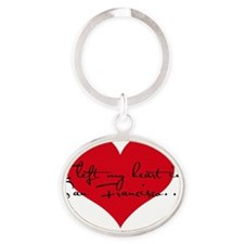 I left my heart in San Francisco - R Oval Keychain