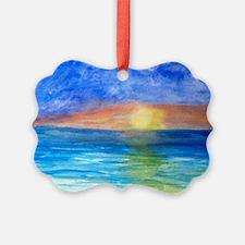 Ocean Beach Sunset Ornament