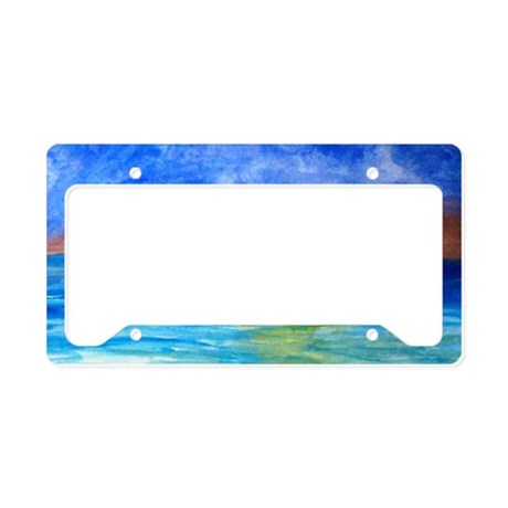 Ocean Beach Sunset License Plate Holder By Admin Cp3632229