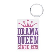 Drama Queen Since 1979 Keychains