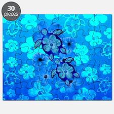 Blue Honu Hibiscus Puzzle