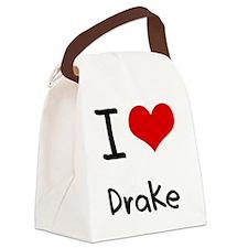 I Love Drake Canvas Lunch Bag