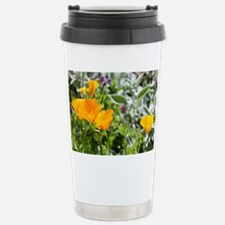 California Poppies in t Stainless Steel Travel Mug