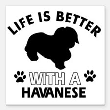 """Life is better with a Ha Square Car Magnet 3"""" x 3"""""""