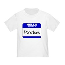 hello my name is paxton T