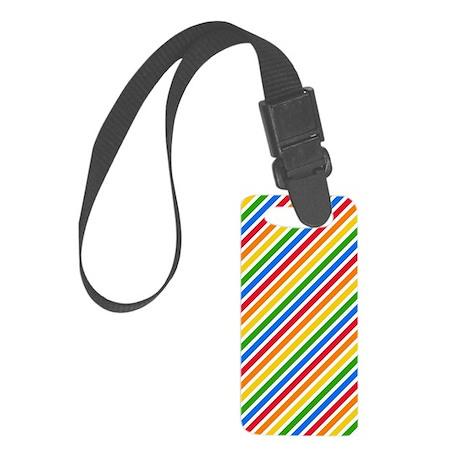 Rainbow Stripes Small Luggage Tag