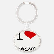 I Love Donovan Oval Keychain