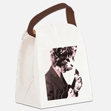 Cat Music Style Canvas Lunch Bag