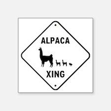 "Alpaca Xing Square Sticker 3"" x 3"""