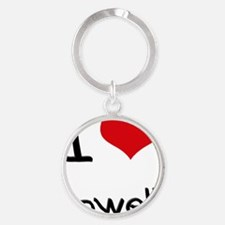 I Love Cowell Round Keychain