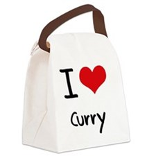 I Love Curry Canvas Lunch Bag