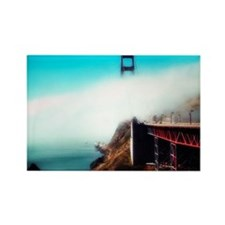 Golden Gate Bridge in Fog Rectangle Magnet