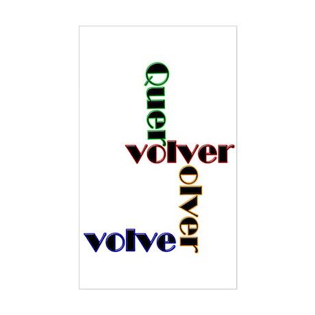 Quero Volver, Volver, Volver Rectangle Sticker
