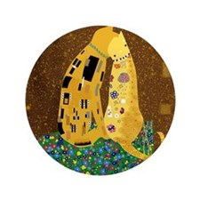"Klimt's Kats 3.5"" Button"
