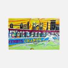 Tennis Champ 3'x5' Area Rug
