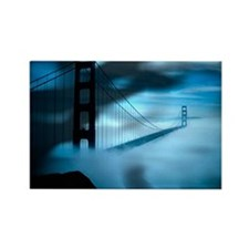 Golden Gate Bridge Night Fog Rectangle Magnet