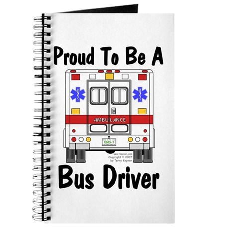 Proud To Be A Bus Driver Journal