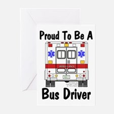 Proud To Be A Bus Driver Greeting Cards (Package o