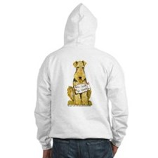 Airedale Terrier Bark for Food Jumper Hoody