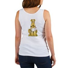 Airedale Terrier Bark for Food Women's Tank Top