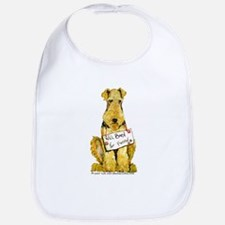 Airedale Terrier Bark for Food Bib