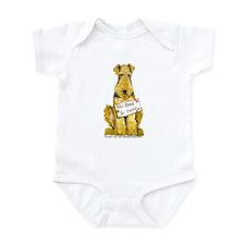 Airedale Terrier Bark for Food Infant Bodysuit