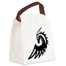 Dragon Black Canvas Lunch Bag