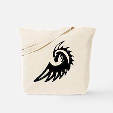 Dragon Black Tote Bag