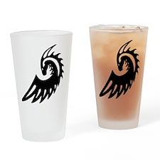 Dragon Black Drinking Glass