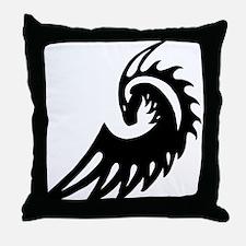 Dragon Black Throw Pillow