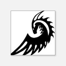 """Dragon Black Square Sticker 3"""" x 3"""""""