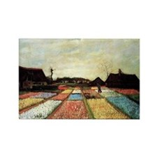 Bulb Fields by Van Gogh Rectangle Magnet