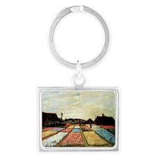 Bulb Fields by Van Gogh Landscape Keychain