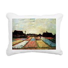 Bulb Fields by Van Gogh Rectangular Canvas Pillow