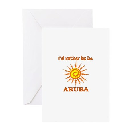 I'd Rather Be In Aruba Greeting Cards (Package of