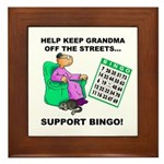 Support Bingo Framed Tile