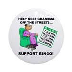 Support Bingo Ornament (Round)