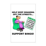 Support Bingo Mini Poster Print