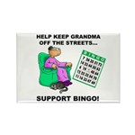 Support Bingo Rectangle Magnet