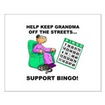 Support Bingo Small Poster