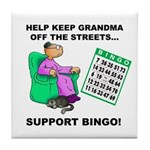 Support Bingo Tile Coaster