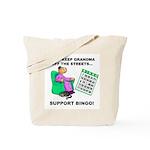 Support Bingo Tote Bag