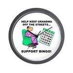 Support Bingo Wall Clock