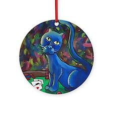 Midnight Louie Ornament (Round)